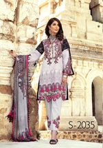 Load image into Gallery viewer, Light Grey Mommy & Me IVANA Luxury Lawn Collection Ladies Suit