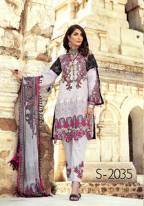 Light Grey Mommy & Me IVANA Luxury Lawn Collection Ladies Suit