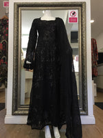 Load image into Gallery viewer, Black Rafia Style Sequins Ladies Frock