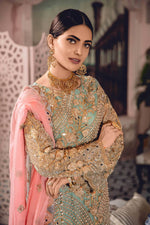 Load image into Gallery viewer, Mint Green Premium Chiffon Pearl and Stone Work Ladies Suit