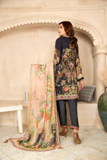 Load image into Gallery viewer, Black Chiffon Maryam & Maria's Ladies Suit