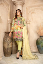 Load image into Gallery viewer, Mint Green Chiffon Maryam & Maria's Ladies Suit