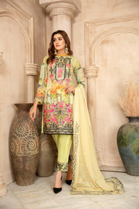 Mint Green Chiffon Maryam & Maria's Ladies Suit
