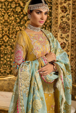 Load image into Gallery viewer, Mustard Noor by Saadia Asad Embroidered Pure Chiffon Ladies Suit