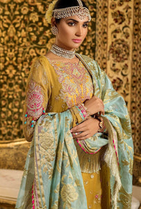 Mustard Noor by Saadia Asad Embroidered Pure Chiffon Ladies Suit