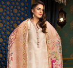 Load image into Gallery viewer, Beige Jacquard Embroidered Ladies Suit by Muskari