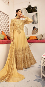 Gold Embroidered IVANA Luxury Chiffon Ladies Suit