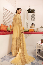 Load image into Gallery viewer, Gold Embroidered IVANA Luxury Chiffon Ladies Suit
