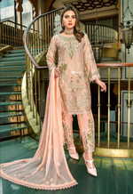 Load image into Gallery viewer, Baby Pink Luxury Chiffon Dupatta by Munira Ladies Suit