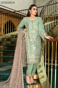 Green Luxury Chiffon Dupatta by Munira Ladies Suit