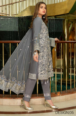Load image into Gallery viewer, Grey Luxury Chiffon Dupatta by Munira Ladies Suit