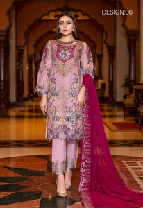 Pink Luxury Chiffon Dupatta by Munira Ladies Suit