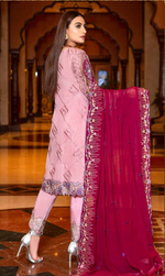 Load image into Gallery viewer, Pink Luxury Chiffon Dupatta by Munira Ladies Suit