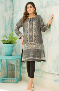 Grey Digital Hands Embroidered Ladies Kurti