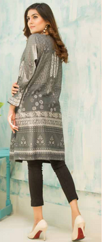 Load image into Gallery viewer, Grey Digital Hands Embroidered Ladies Kurti