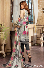 Load image into Gallery viewer, Black Digital Airjet Lawn Collection by Munira Designer
