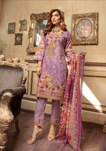 Lilac Digital Airjet Lawn Collection by Munira Designer