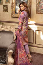 Load image into Gallery viewer, Lilac Digital Airjet Lawn Collection by Munira Designer