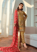 Load image into Gallery viewer, Olive Luxury Chiffon Ladies Suit
