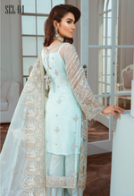 Load image into Gallery viewer, Light Blue Luxury Chiffon Ladies Suit