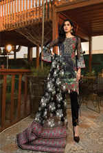 Load image into Gallery viewer, Black and Grey Pret Lawn Ladies Suit