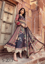 Load image into Gallery viewer, Black IVANA Luxury Lawn Ladies Frock