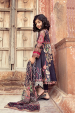 Load image into Gallery viewer, Black IVANA Luxury Lawn Girls Frock