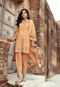Gold IVANA Luxury Lawn Ladies Frock