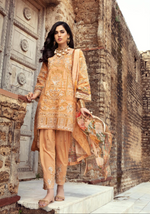 Load image into Gallery viewer, Gold IVANA Luxury Lawn Girls Frock