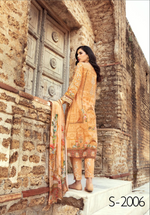 Load image into Gallery viewer, Gold IVANA Luxury Lawn Ladies Frock