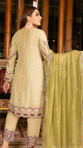 Olive Luxury Chiffon by Munira Ladies Suit