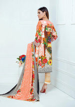 Load image into Gallery viewer, Peach Luxury Linen Ladies Suit