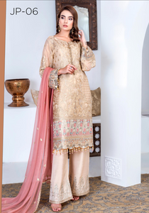 Beige Jannan Premium Ladies Suit