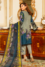 Load image into Gallery viewer, Khaki Green Linen by Munira Ladies Suit