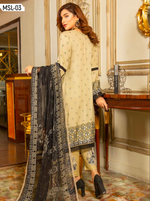 Load image into Gallery viewer, Beige Linen by Munira Ladies Suit
