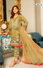 Load image into Gallery viewer, Olive Linen by Munira Ladies Suit
