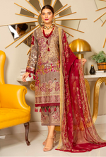 Load image into Gallery viewer, Light Brown Linen by Munira Ladies Suit
