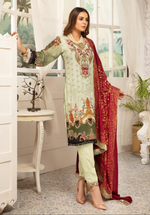 Load image into Gallery viewer, Mint Green Rozana Ladies Suit