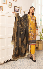 Load image into Gallery viewer, Mustard Yellow Rozana Ladies Suit