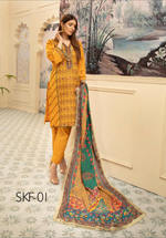 Load image into Gallery viewer, Mustard Yellow Nisa Ladies Suit