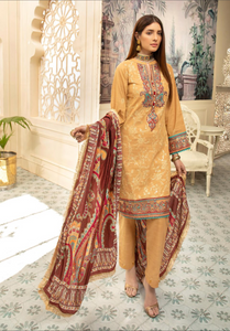 Gold Nisa Ladies Suit