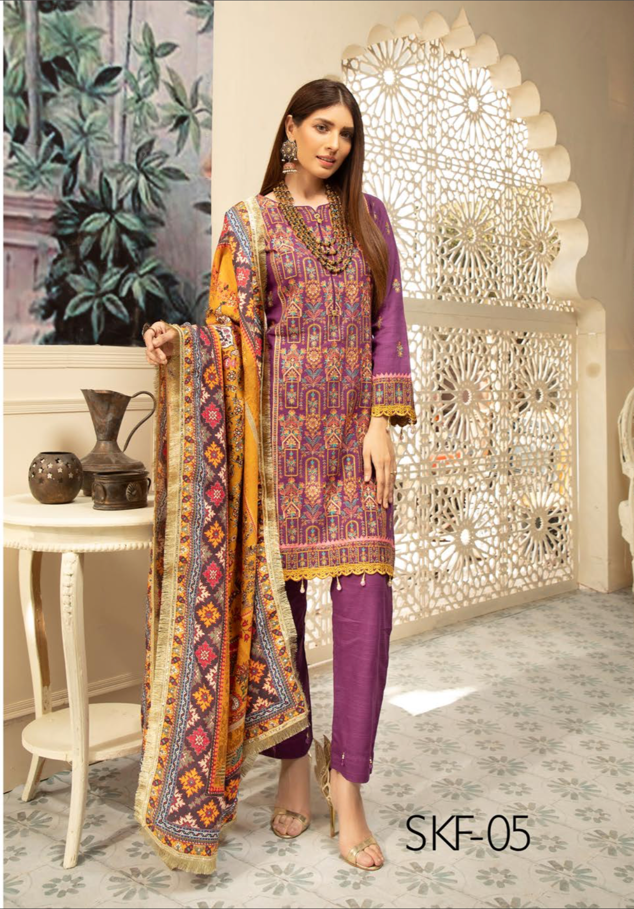 Purple Nisa Ladies Suit