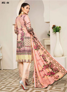 Pink Dhanak by Munira Ladies Suit