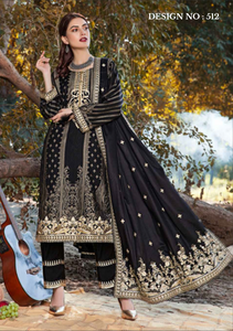 Black Eshaisha Unstitched Suit