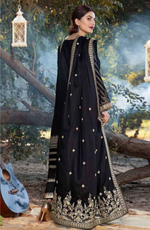 Load image into Gallery viewer, Black Eshaisha Unstitched Suit