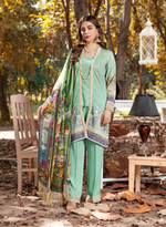 Load image into Gallery viewer, Teal Eshaisha Unstitched Suit