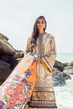 Load image into Gallery viewer, Beach Bloom BAROQUE Khaddar Unstitched Suit