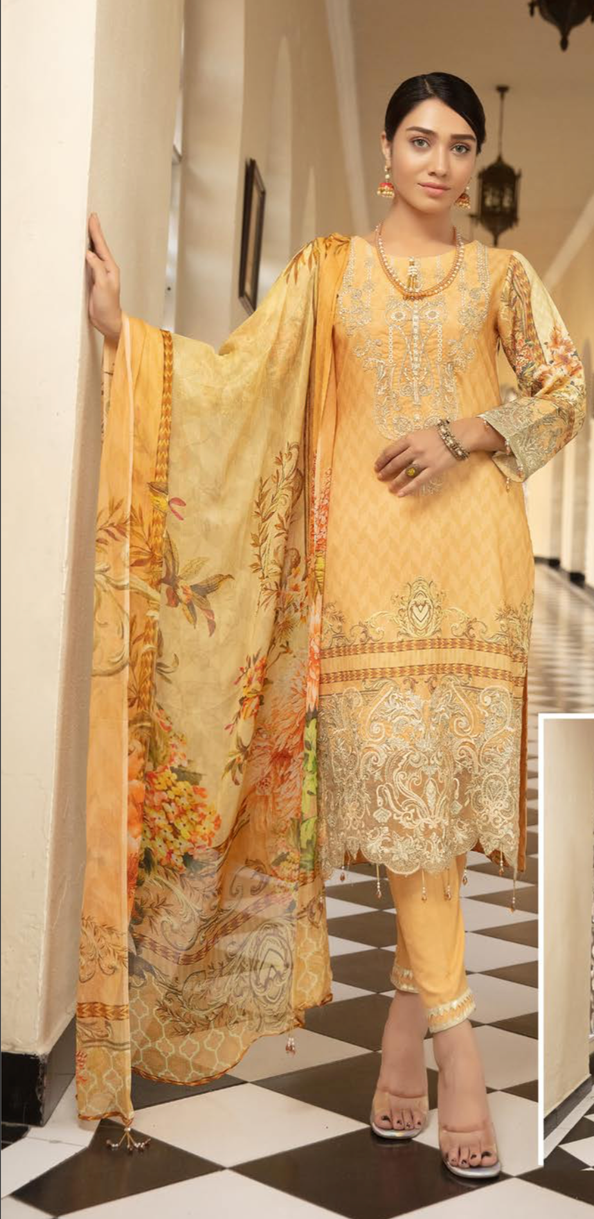 Light Gold Mehwish Ladies Suit