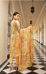 Load image into Gallery viewer, Light Gold Mehwish Ladies Suit