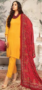 Mustard Pehchaan Ladies Suit